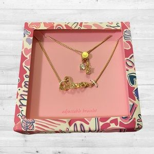 NWT Lilly Pulitzer We Want Amore Pull Tie Bracelet